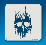 31-00043 IStencil Flame Skull