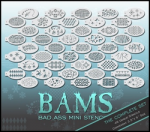 BAM1000 Bad Ass Mini Stencils Classic Full Set