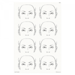 FAB011 Wipeable Practice Board Adult Mask Portrait x 8