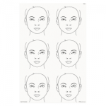 FAB013 Wipeable Practice Board Child Face Portrait x 6