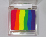 Face Paints Australia Split Cake Mini Neon Rainbow 15 g (Mini sponge included)