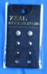 Zeal Stick on Studs Diamonte/Pearl
