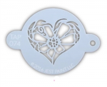 TAP074 Face Painting Stencil Flower Heart