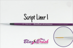 Blazin Brush Script Liner Number 1 by Marcela Bustamante
