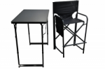 High Aluminium Frame Directors Chair and Table Set (Holdall included)