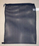 Drawstring Net Sponge Bag Medium 17'' x 24'' Black