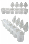 Plastic Containers with Flip Top x 6