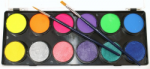 Face Paints Australia Metallic and Neon Palette 12 x 10 g