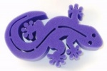 Gecko Brush Holder Purple