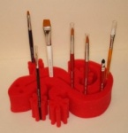 Gecko Brush Holder Red