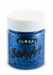 Global Body Art Liquid Face Paint Glitter Blue 45 ml