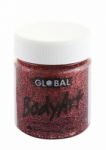 Global Body Art Liquid Face Paint Glitter Red 45 ml