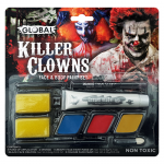 Global Colours Body Art Killer Clowns Face and Body Paint Set