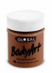 Global Body Art Liquid Face Paint Standard Brown 45 ml