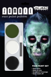 Global Colours Body Art Zombie Green FX Palette 15 g