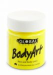 Global Body Art Liquid Face Paint Fluoro Yellow 45 ml