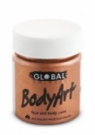 Global Body Art Liquid Face Paint Metallic Copper 45 ml