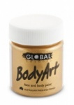 Global Body Art Liquid Face Paint Metallic Gold 45 ml