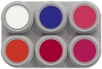 F6 Grimas Fluorescent Water Makeup Palette 6 x 2.5 ml