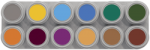 12B Grimas Water Makeup Palette 12 x 2.5 ml