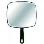 Hand Mirror Black (Glass)