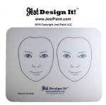 Jest Design It! Face Painting Practice Board 2 Front View Kids