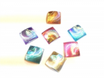 Kryvaline Jewel Shell Square 10 mm (30 Pack)