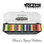 Global Colours Body Art Fun Stroke Palette Leanne's Tropical Selection 6 x 10 g