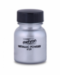 Mehron Metallic Powder Silver (Approx 30 ml/1 oz)