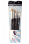PartyXplosion Profigrime Brush Set Round x 6 Brushes