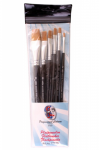 PartyXplosion Profigrime Brush Set Flat x 6 Brushes
