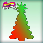1038 Silly Farm Pink Power Stencil Christmas Tree