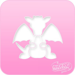 1007 Silly Farm Pink Power Stencil Dragon