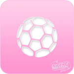 1079 Silly Farm Pink Power Stencil Soccer Ball