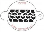 TAP046 Face Painting Stencil Tire Track