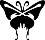 TAG Adhesive Stencil Butterfly One