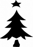 TAG Adhesive Stencil Christmas Tree 1