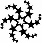 TAG Adhesive Stencil Star Circle