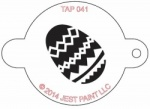 TAP041 Face Painting Stencil Easter Egg