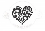 TAP068 Face Painting Stencil Ornate Heart