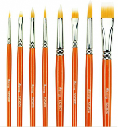 Funky Foxes Small Flat Brush No 5