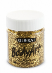 Global Body Art Liquid Face Paint Glitter Gold 45 ml