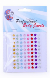 PartyXplosion Body Jewels Flowers 80 x 6 mm