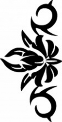 TAG Adhesive Stencil Flower Tribal