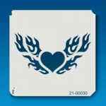 21-00030 IStencil Flaming Heart