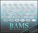 BAM2000 Bad Ass Mini Stencils Expansion Set