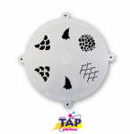 TAPG100 Galaxy Face Painting Stencil Scales