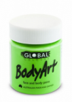 Global Body Art Liquid Face Paint Fluoro Green 45 ml