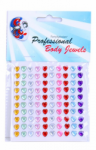 PartyXplosion Body Jewels Hearts 100 x 6 mm