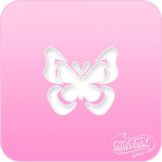 1101 Silly Farm Pink Power Stencil Butterfly 3